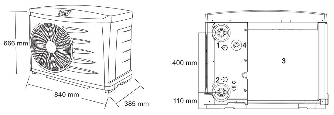 pompe chaleur zodiac power pour piscine pac zodiac power. Black Bedroom Furniture Sets. Home Design Ideas