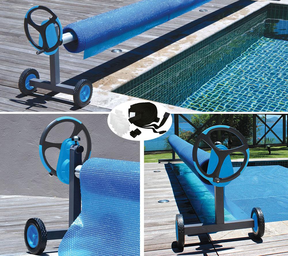 Enrouleur pour piscine enterr e presto alux for Enrouleur bache piscine octogonale