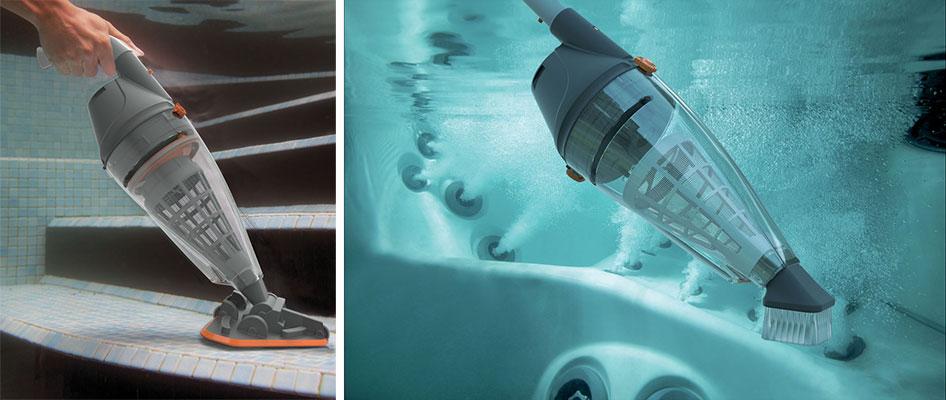 Aspirateur piscine ou spa vektro pro for Nettoyage manuel piscine