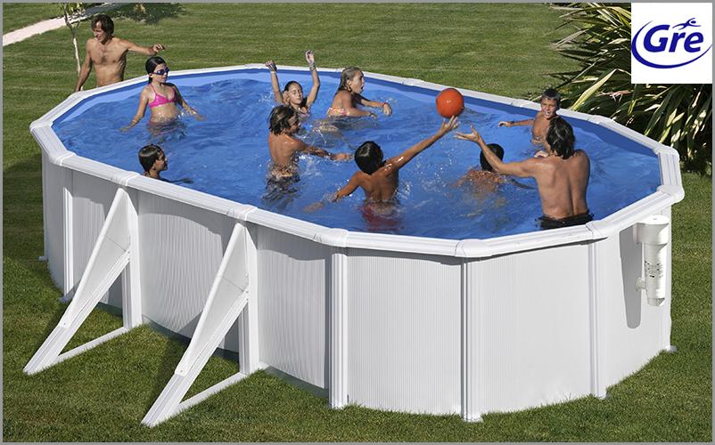 piscine acier gr azores ovale. Black Bedroom Furniture Sets. Home Design Ideas