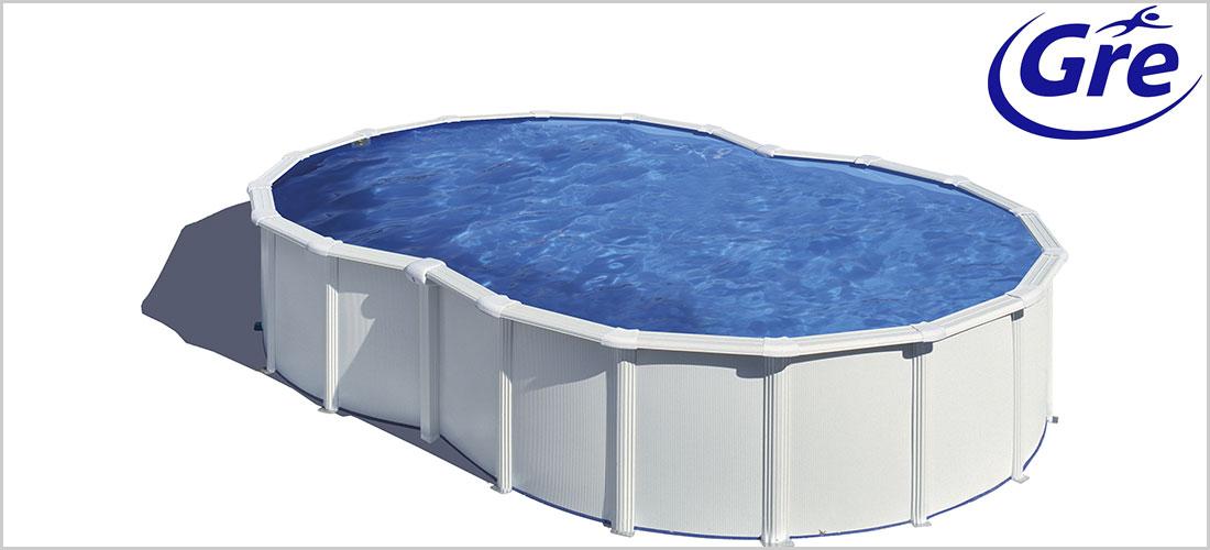Piscine acier gr varadero en forme de huit blanche - Liner piscine en huit ...