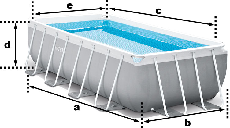 Piscine tubulaire intex prism frame 3 00 x 1 75 x h0 80m for Dimension piscine