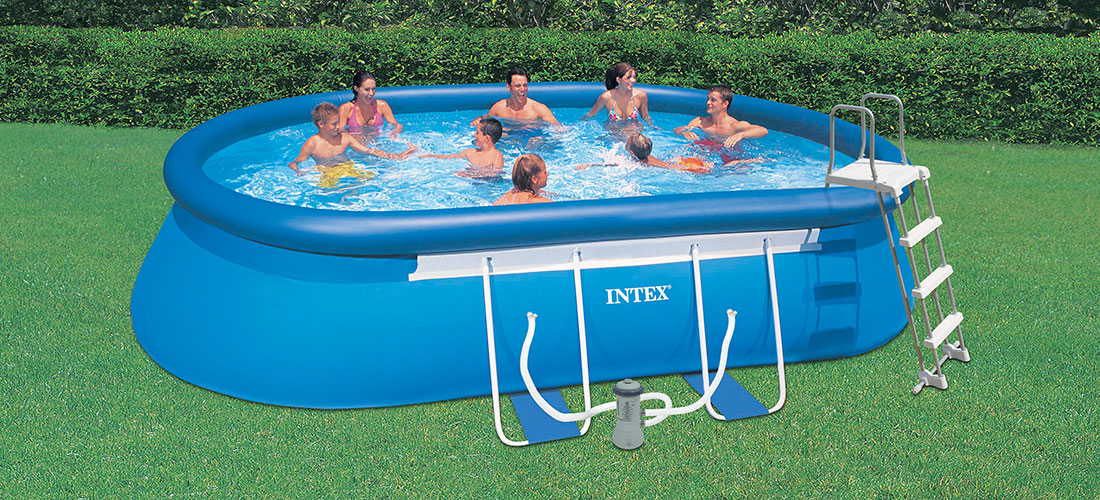 Piscine autoportante intex ellipse 5 49 x 3 05 x h1 07m for Piscine hors sol intex 5 49