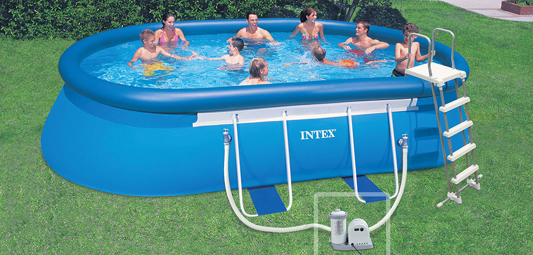 Piscine intex autoport e ellipse 6 10 x 3 66 x h1 22m for Piscine 3 boudins intex