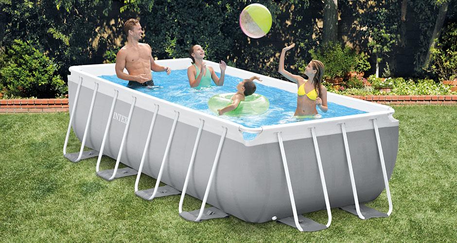 piscine tubulaire intex prism frame 4 00 x 2 00 x h1 00m rectangle. Black Bedroom Furniture Sets. Home Design Ideas