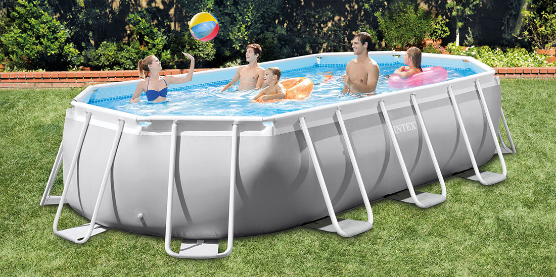 Piscine tubulaire Prism Frame ovale 5,03 x 2,74 x h1,22m