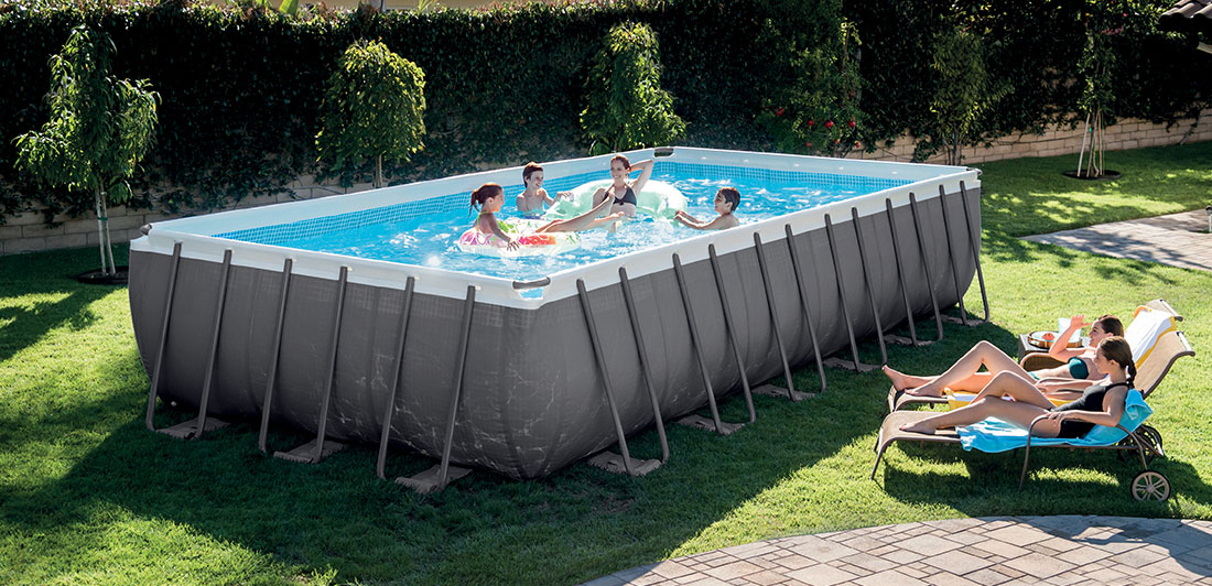 Piscine tubulaire intex ultra silver 7 32 x 3 66 x h1 32m for Piscine intex 3 66