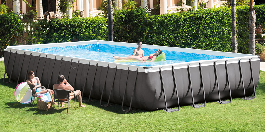 Piscine tubulaire Ultra Silver 9,75 x 4,88 x h1,32m