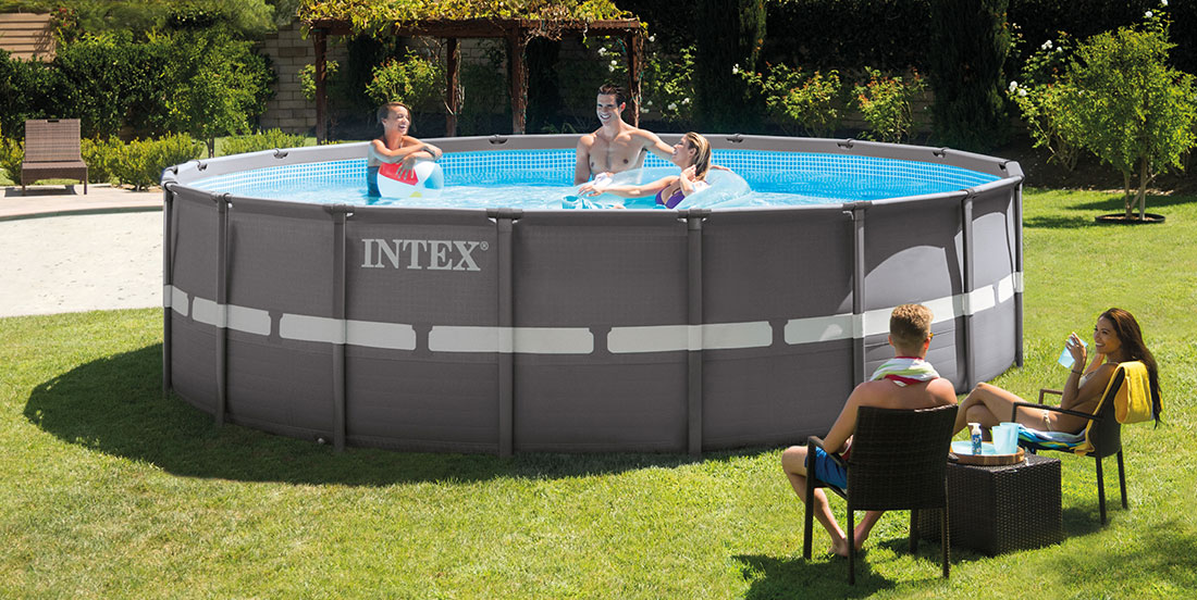 Piscine tubulaire intex ronde ultra frame 4 88 x h1 22m for Piscine hors sol ultra frame