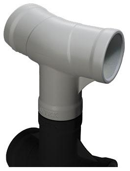Pièce en T Intex PVC haute résistance sans goupille