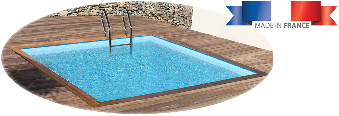 Piscine bois sunbay carra 3 00 x 3 00 x h1 19m for Piscine sunbay