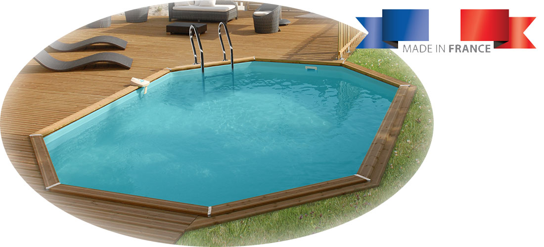 Piscine bois sunbay cannelle 5 51 x 3 51 x h1 19m for Installation piscine bois