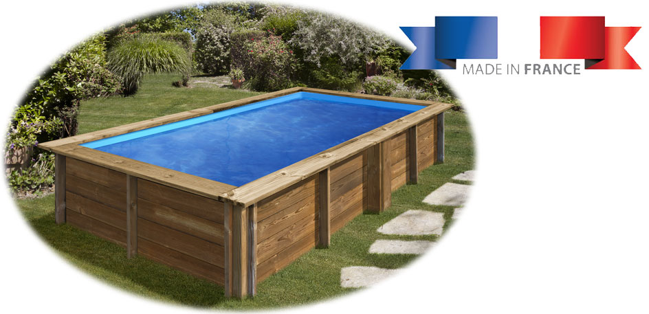Piscine bois rectangulaire Sunbay Lemon