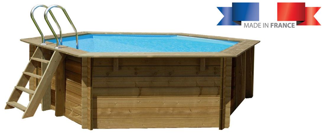 Piscine bois sunbay vanille 4 12 x h1 19m for Installation piscine bois