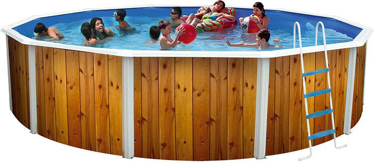 Piscine hors sol acier imitation bois simple piscine hors for Piscine ronde hors sol acier pas cher