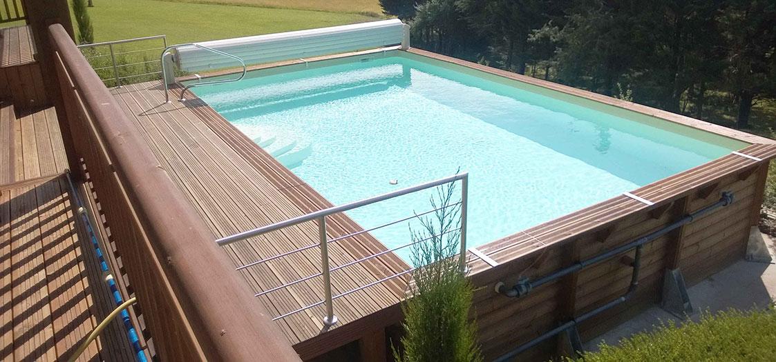 piscine bois ubbink linea
