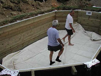 Piscine bois lagon 5 50 x 4 00 x h1 20m for Montage piscine bois