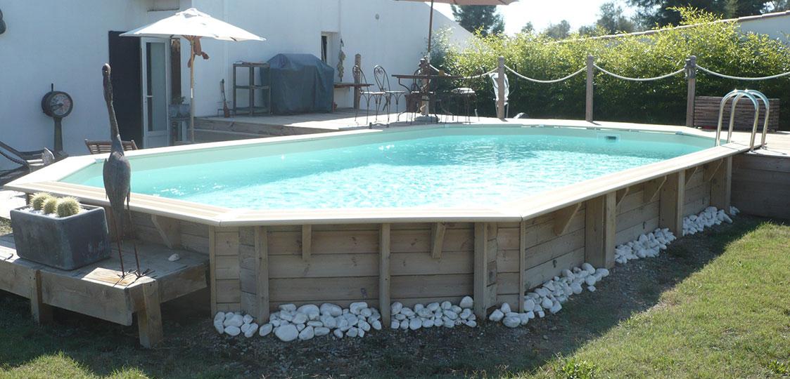 Piscine bois ocea 8 60 x 4 70 x h1 30m for Protege piscine