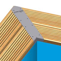 Renfort de margelles aluminium