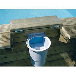 Piscine bois octogonale sunwater 3 60 x h1 20m ubbink for Skimmer flottant premium piscine hors sol ou enterree