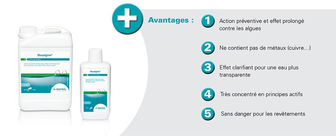 Desalgine bayrol anti algues aqua piscines for Produit piscine bayrol