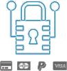 Paiement sécurisé <br /><p>Effectuez vos achats en toute sécurité grâce à plusieurs modes de règlement.</p>